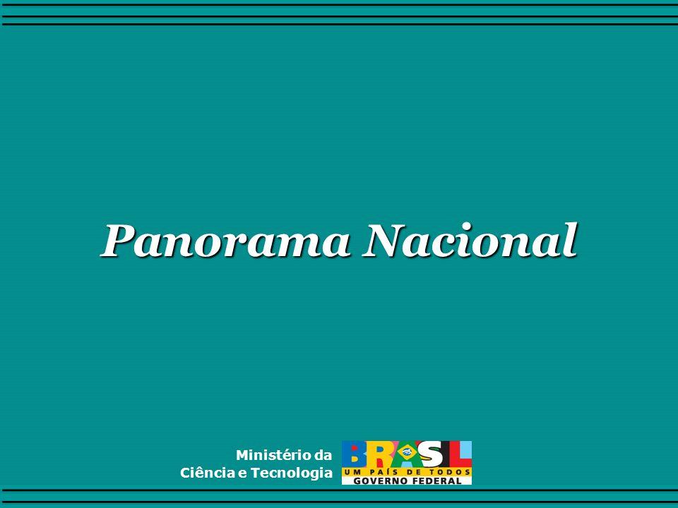 Panorama Nacional Ministério da Ciência e Tecnologia