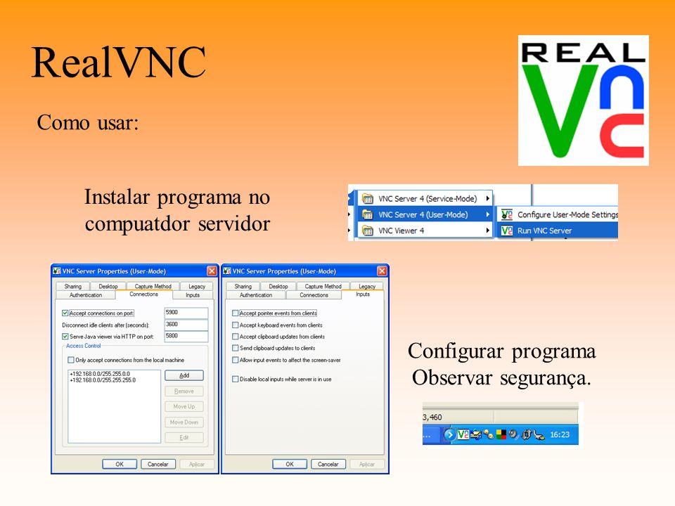 Instalar programa no compuatdor servidor