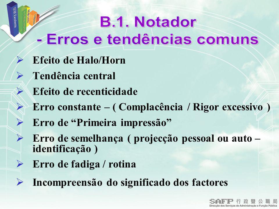 - Erros e tendências comuns
