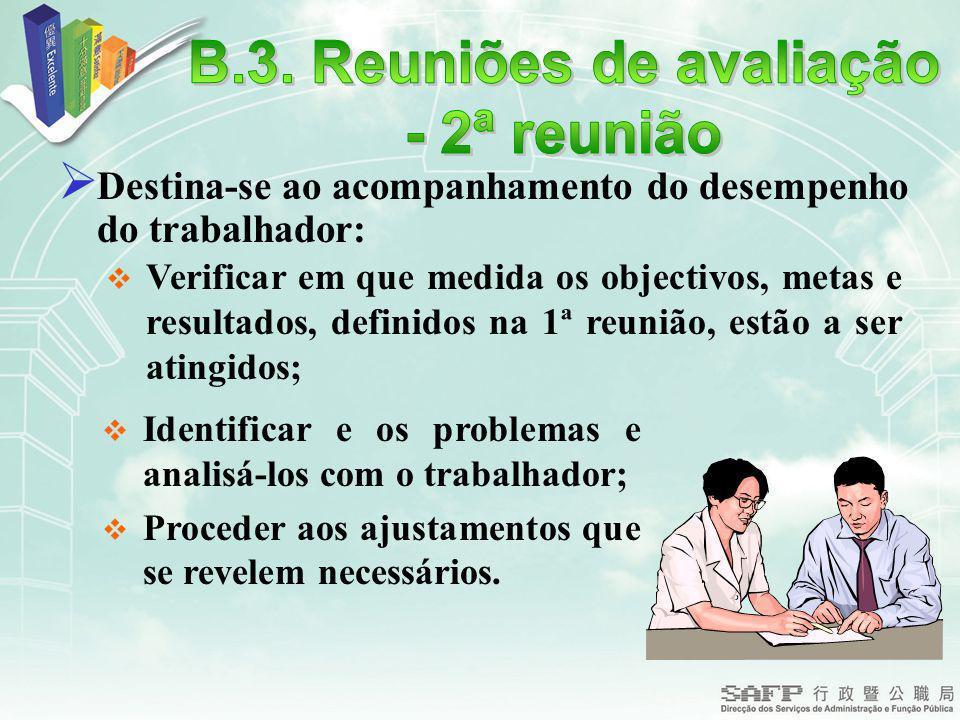 B.3. Reuniões de avaliação