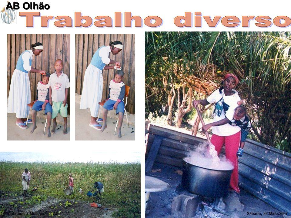 Trabalho diverso AB Olhão 1ª Conferência Missionária AB