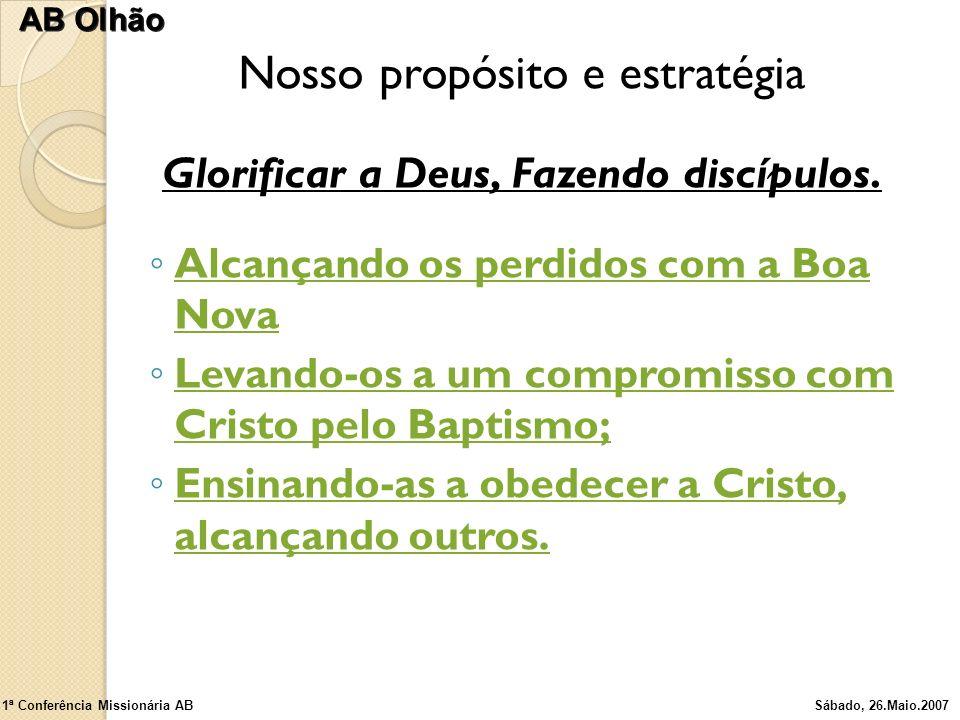 Glorificar a Deus, Fazendo discípulos.