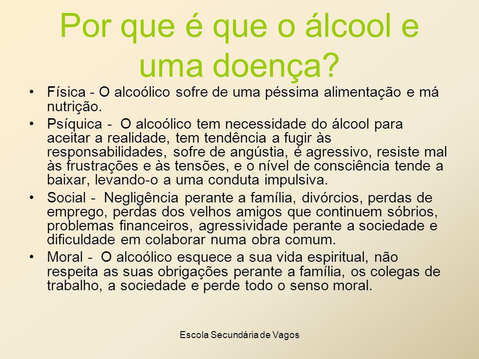 Por que é que o álcool e uma doença