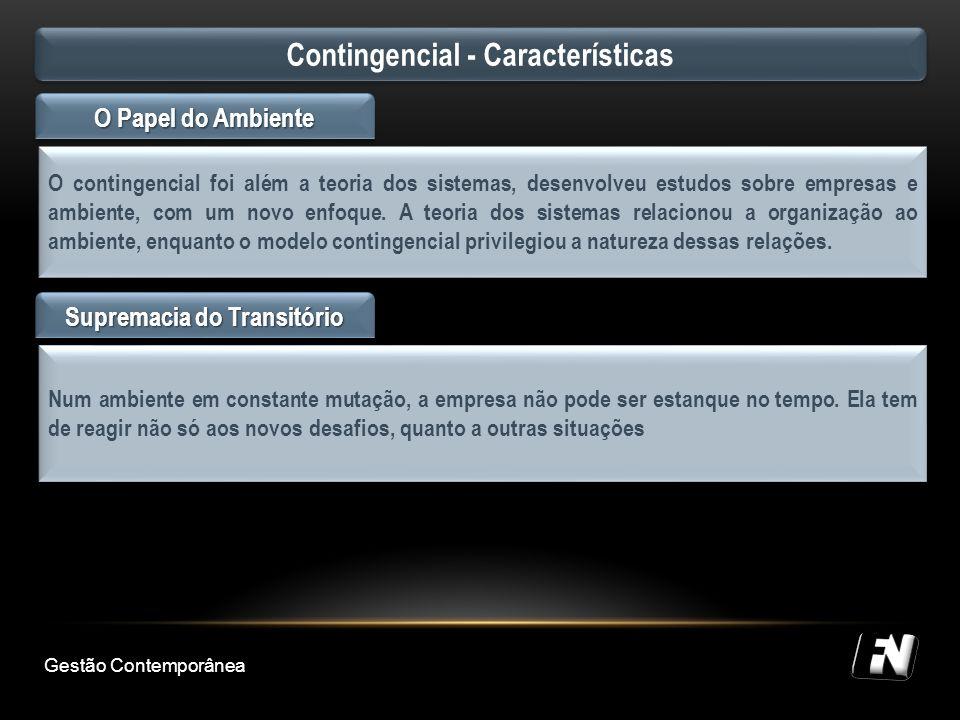 Contingencial - Características Supremacia do Transitório