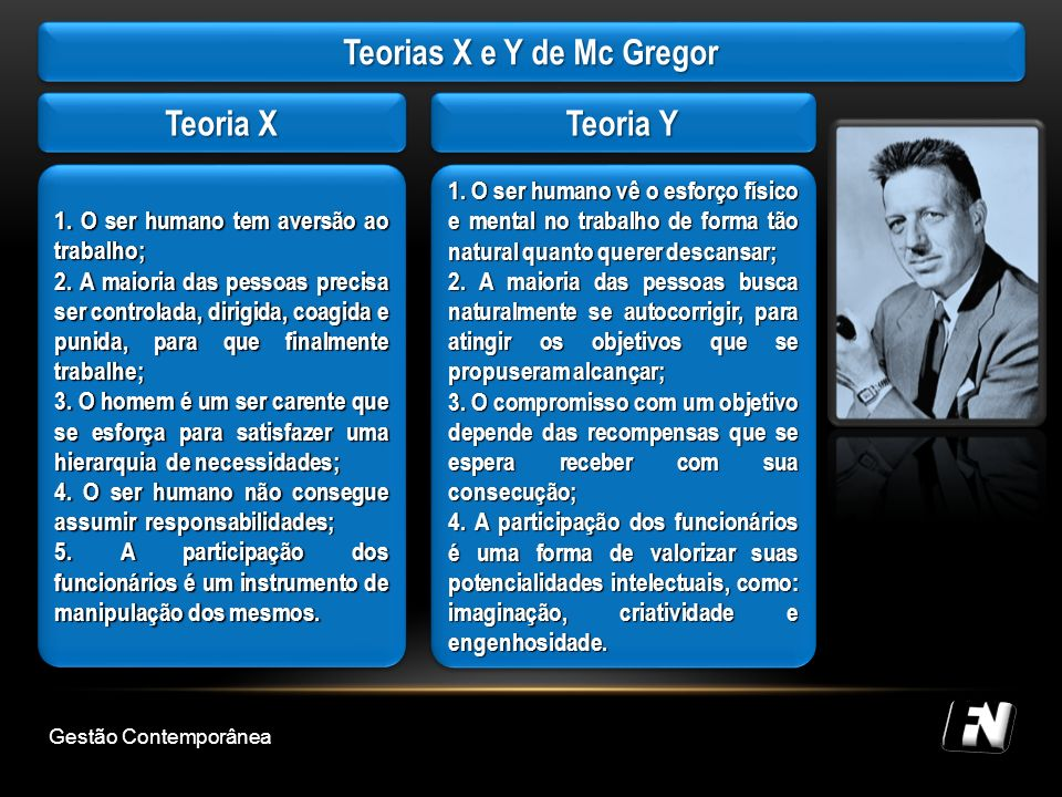 Teorias X e Y de Mc Gregor