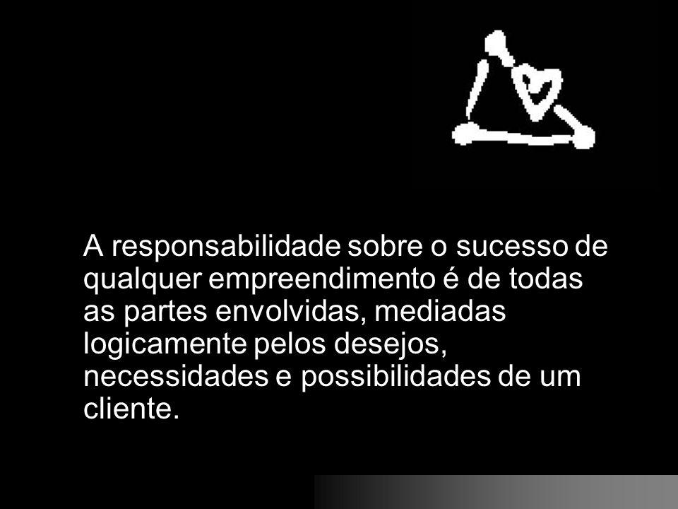 A responsabilidade sobre o sucesso de qualquer empreendimento é de todas as partes envolvidas, mediadas logicamente pelos desejos, necessidades e possibilidades de um cliente.