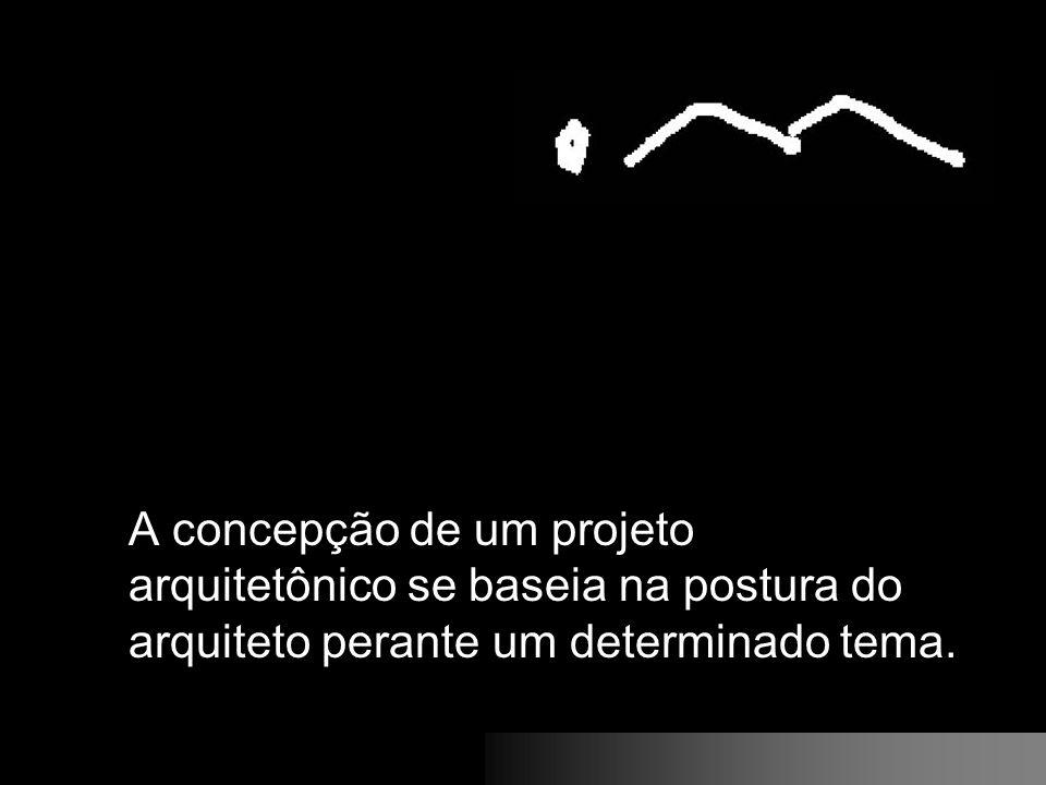 A concepção de um projeto arquitetônico se baseia na postura do arquiteto perante um determinado tema.