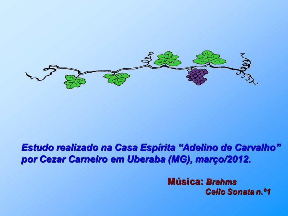 Estudo realizado na Casa Espírita Adelino de Carvalho por Cezar Carneiro em Uberaba (MG), março/2012.