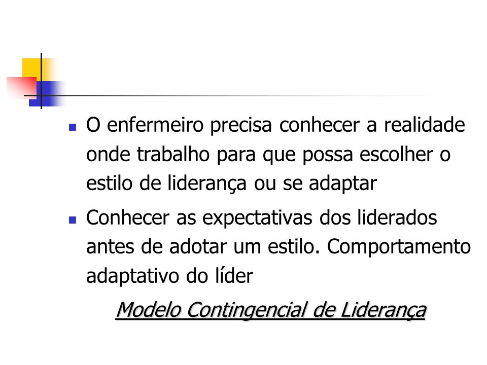 Modelo Contingencial de Liderança