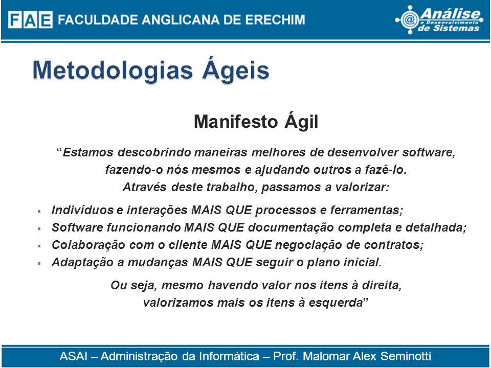Metodologias Ágeis Manifesto Ágil