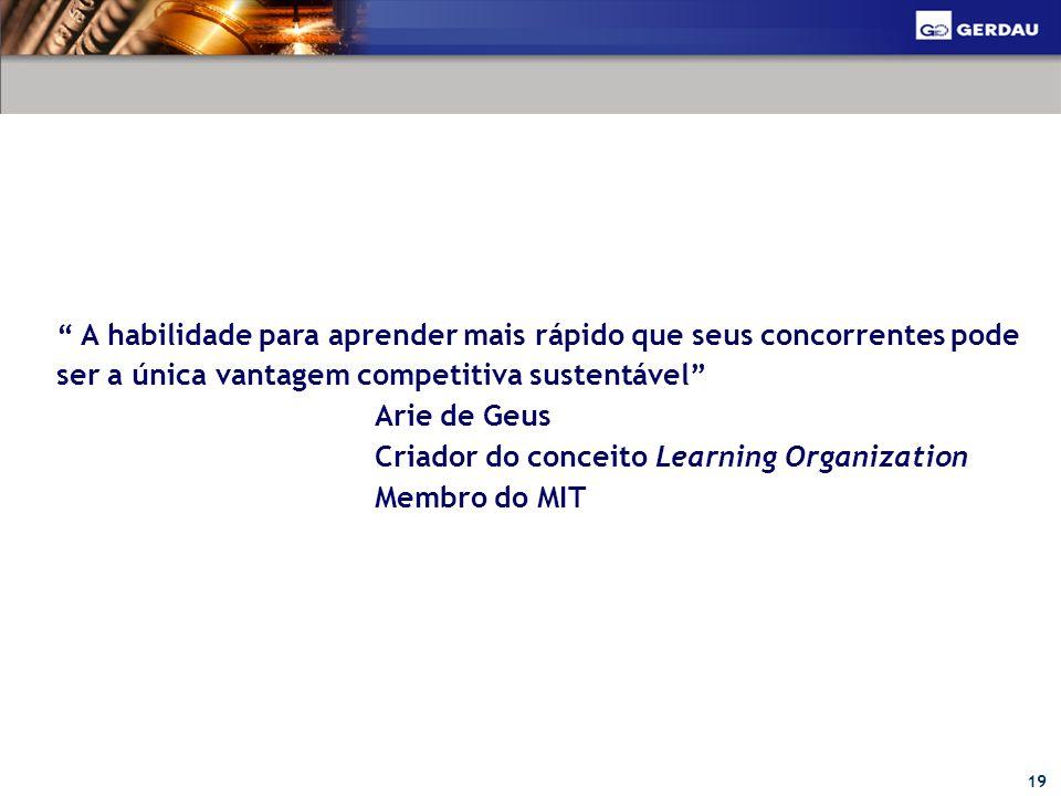 A habilidade para aprender mais rápido que seus concorrentes pode ser a única vantagem competitiva sustentável
