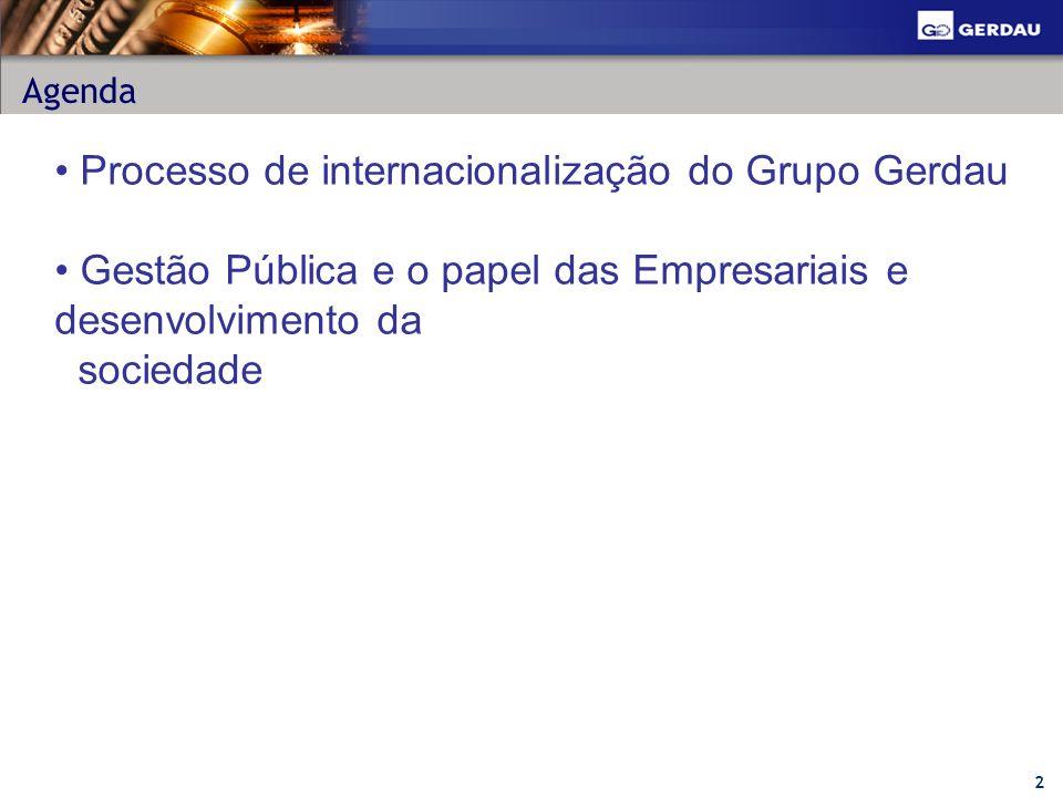 Processo de internacionalização do Grupo Gerdau
