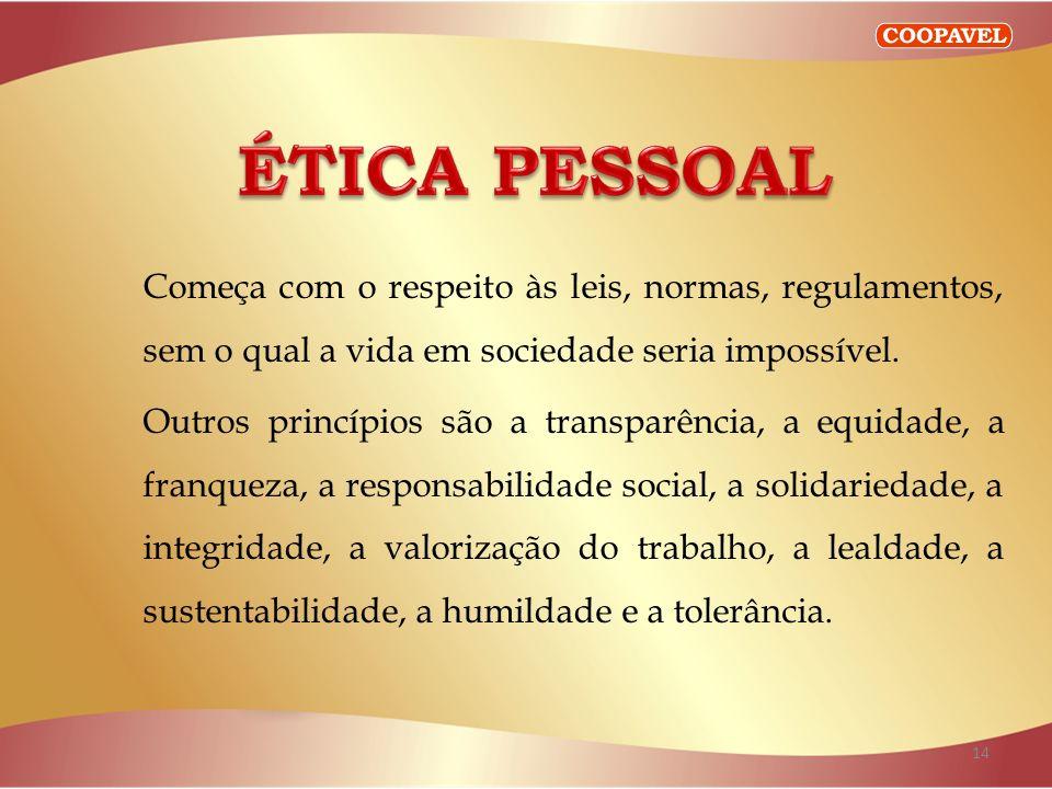 ÉTICA PESSOAL