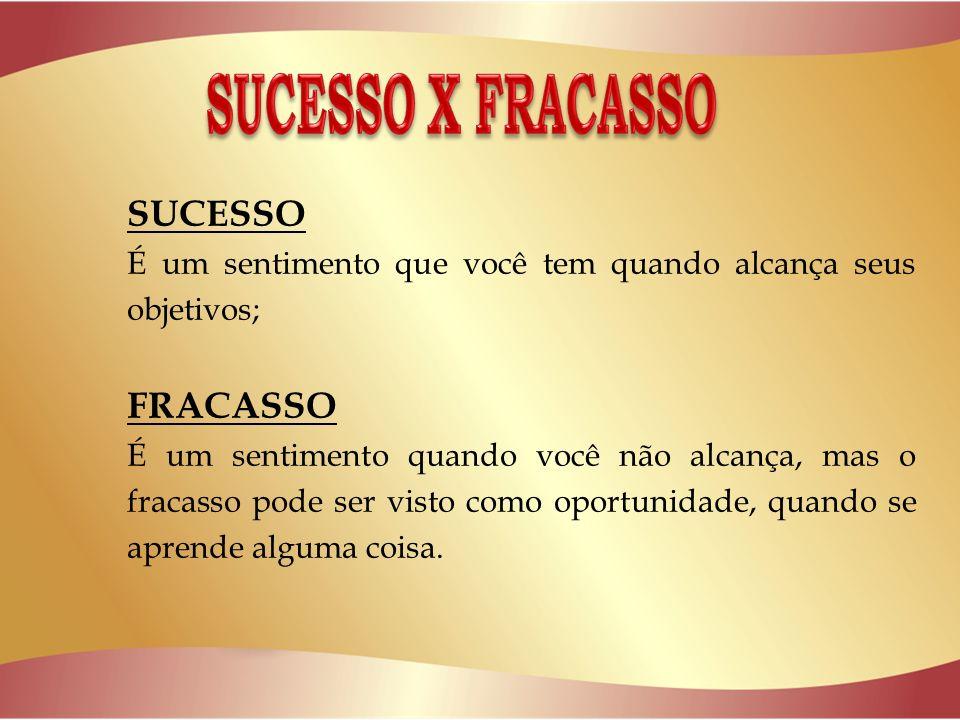 SUCESSO X FRACASSO SUCESSO FRACASSO
