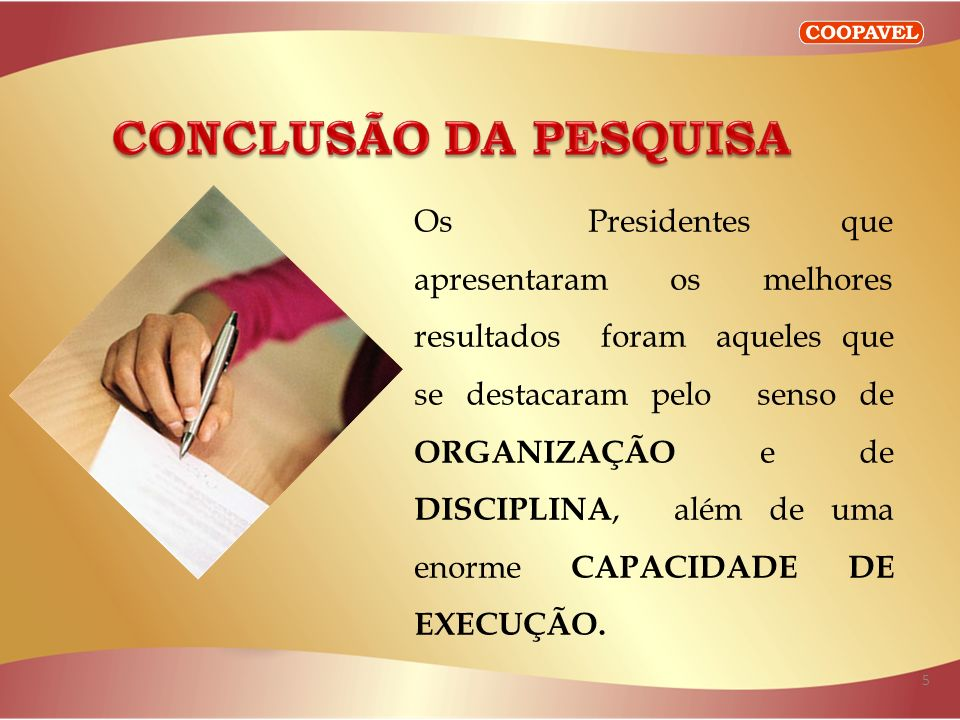 CONCLUSÃO DA PESQUISA