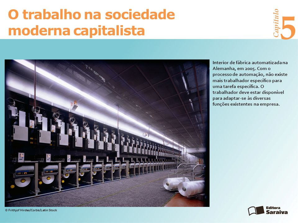 5 O trabalho na sociedade moderna capitalista Capítulo