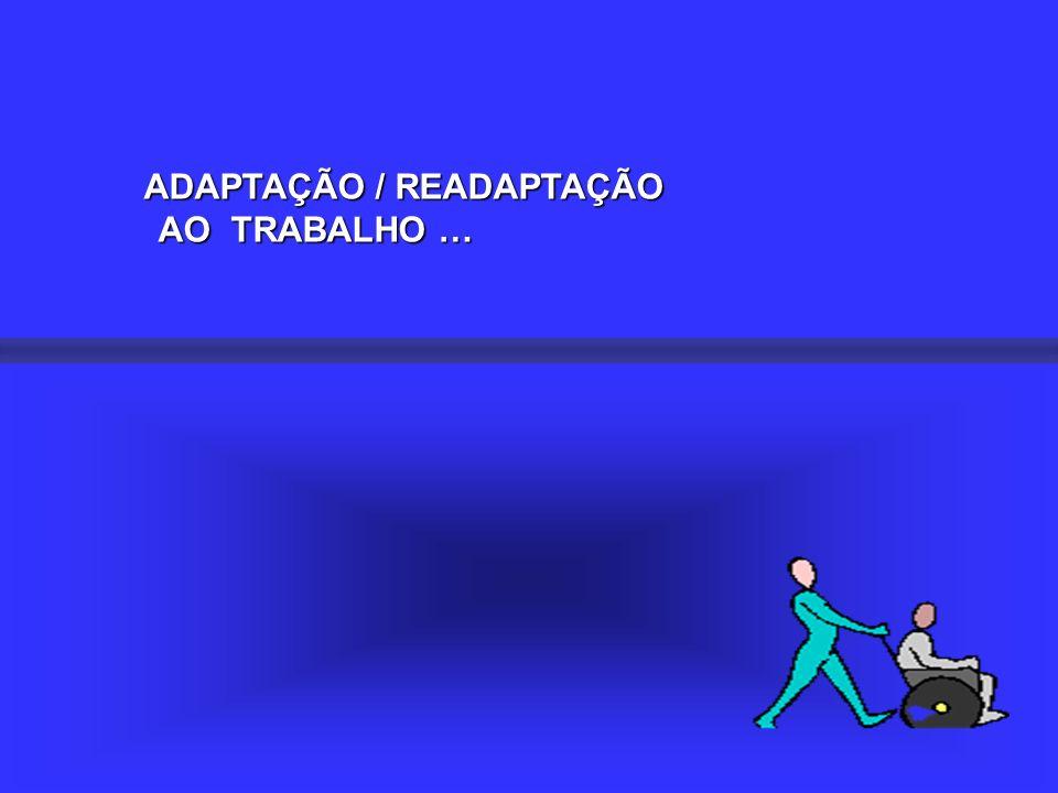 ADAPTAÇÃO / READAPTAÇÃO