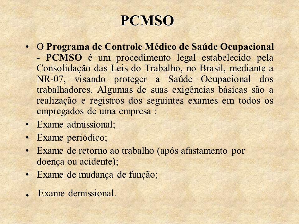 PCMSO . Exame demissional.