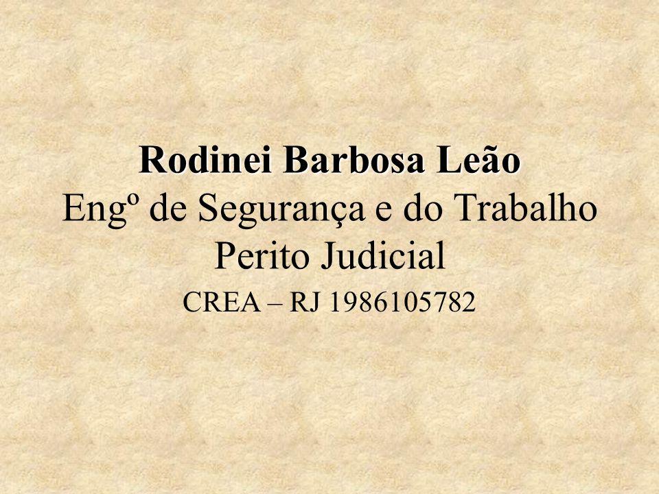 Rodinei Barbosa Leão Engº de Segurança e do Trabalho Perito Judicial