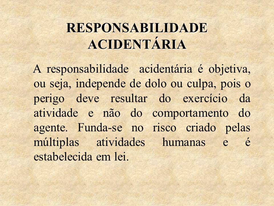RESPONSABILIDADE ACIDENTÁRIA