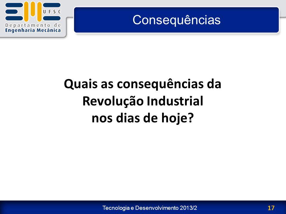 Quais as consequências da Revolução Industrial