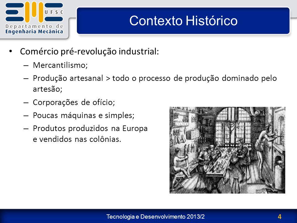 Contexto Histórico Comércio pré-revolução industrial: Mercantilismo;