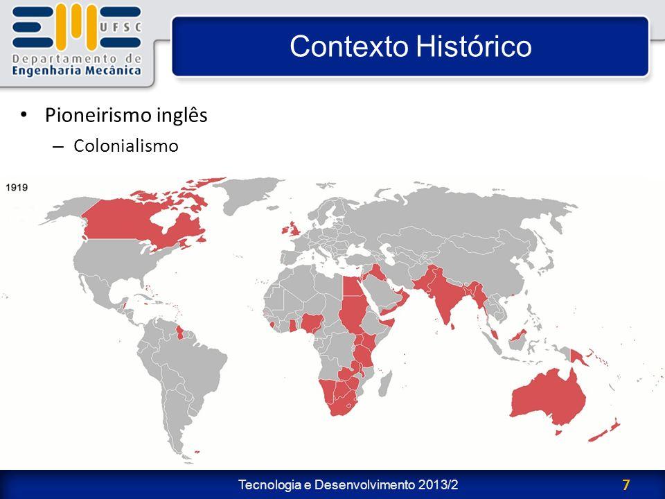 Contexto Histórico Pioneirismo inglês Colonialismo