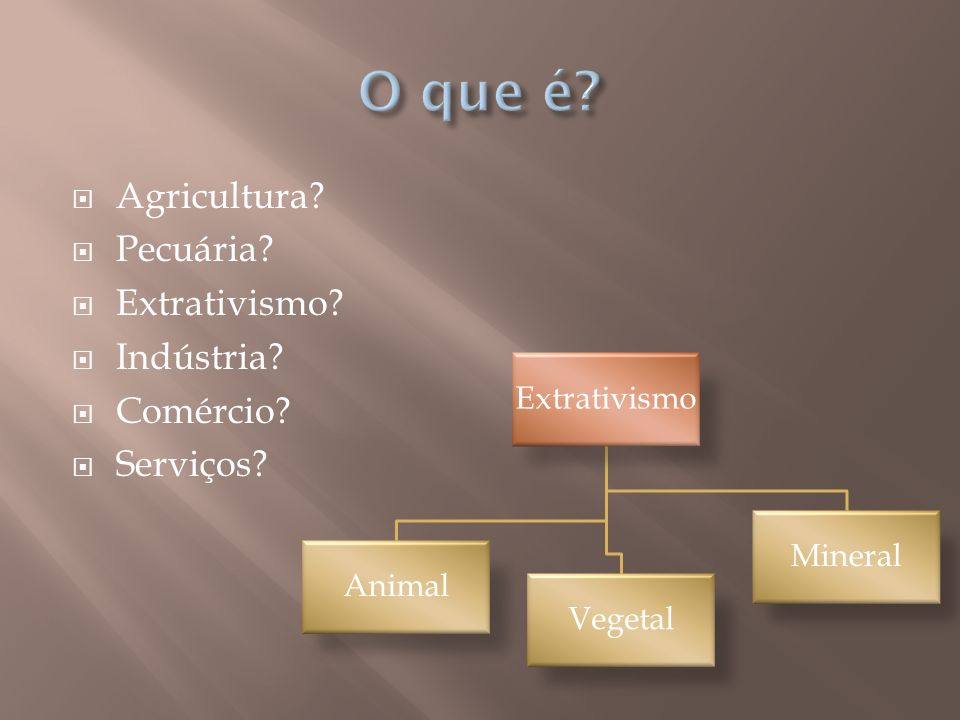 O que é Agricultura Pecuária Extrativismo Indústria Comércio