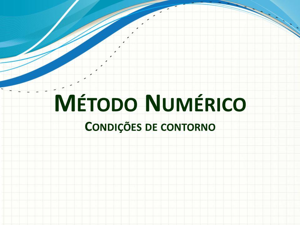 Método Numérico Condições de contorno