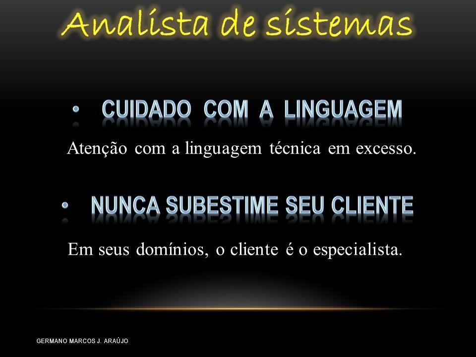Cuidado com a linguagem Nunca subestime seu cliente
