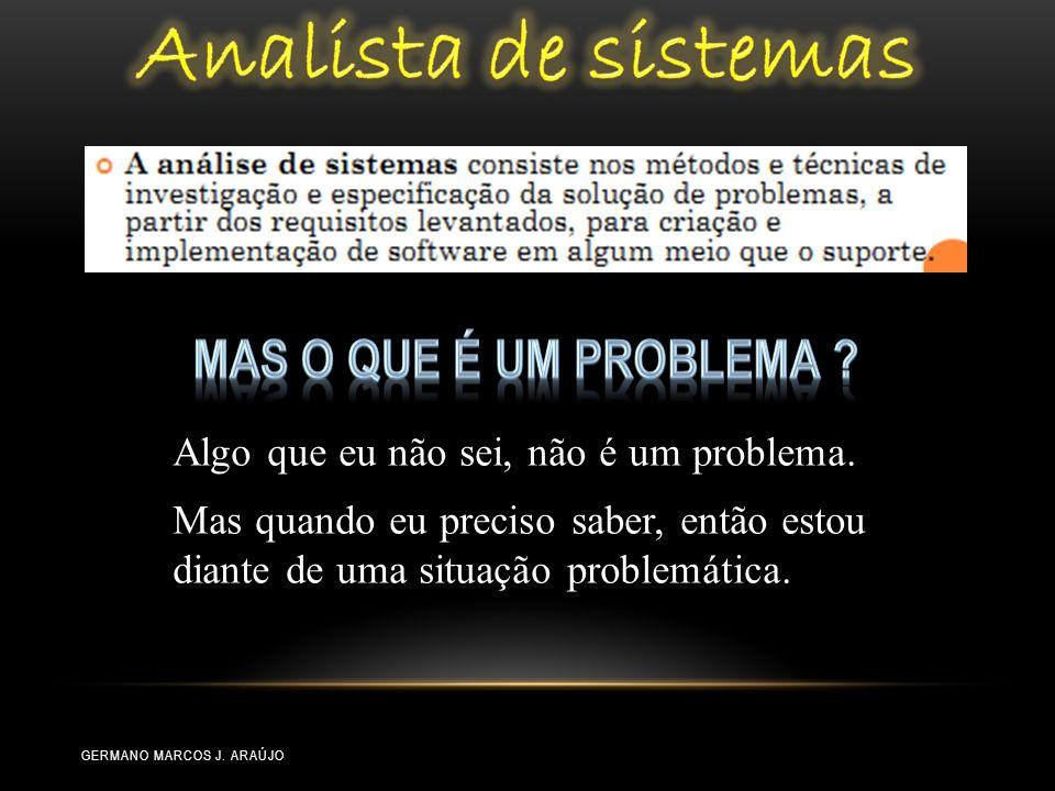 Analista de sistemas mas O que é um problema