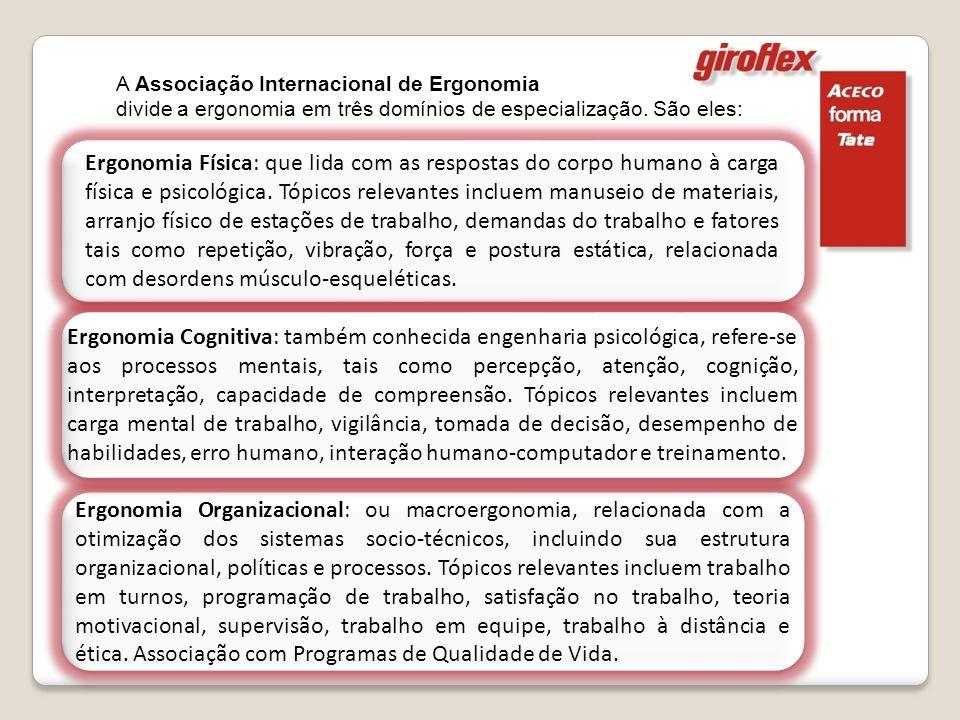 A Associação Internacional de Ergonomia