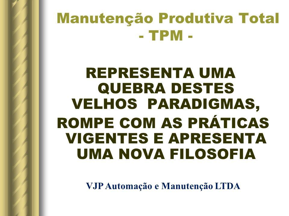 Manutenção Produtiva Total - TPM -