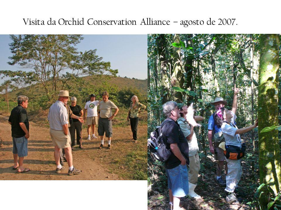 Visita da Orchid Conservation Alliance – agosto de 2007.
