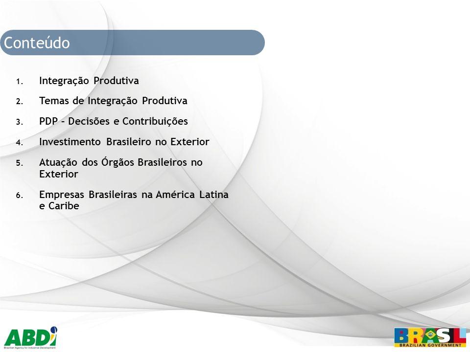 Conteúdo Integração Produtiva Temas de Integração Produtiva