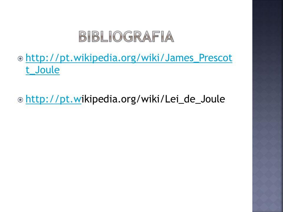 Bibliografia http://pt.wikipedia.org/wiki/James_Prescot t_Joule