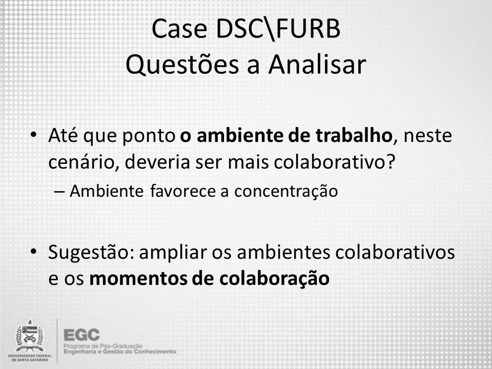 Case DSC\FURB Questões a Analisar