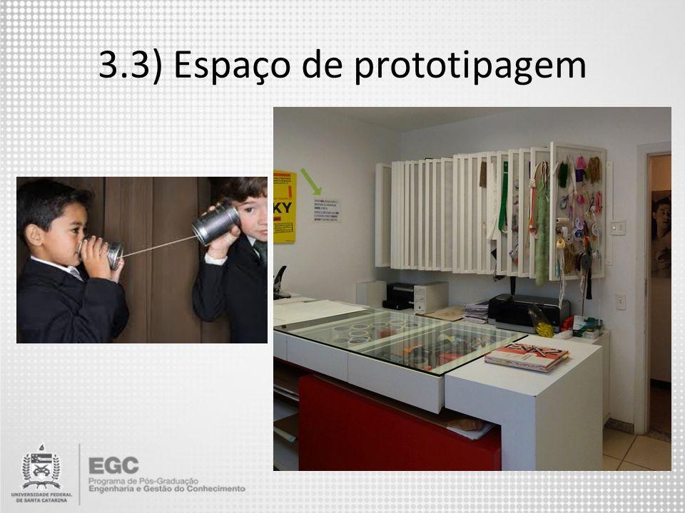 3.3) Espaço de prototipagem