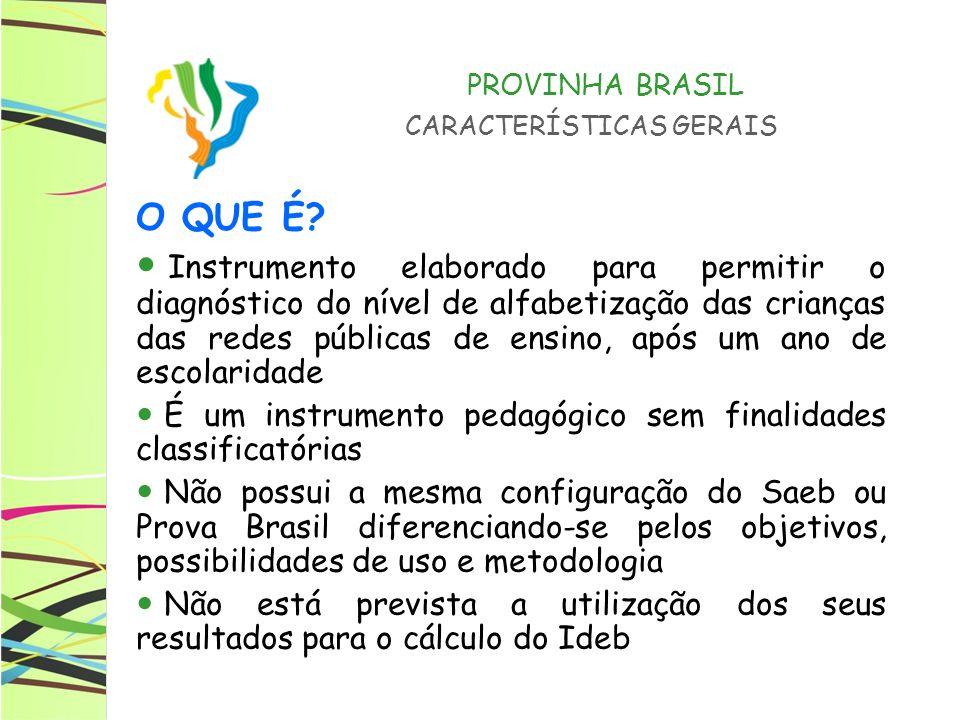 PROVINHA BRASIL CARACTERÍSTICAS GERAIS