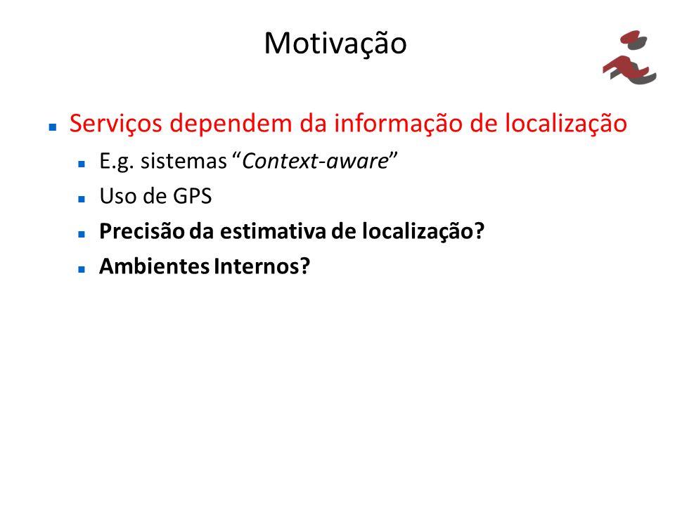 Motivação Serviços dependem da informação de localização