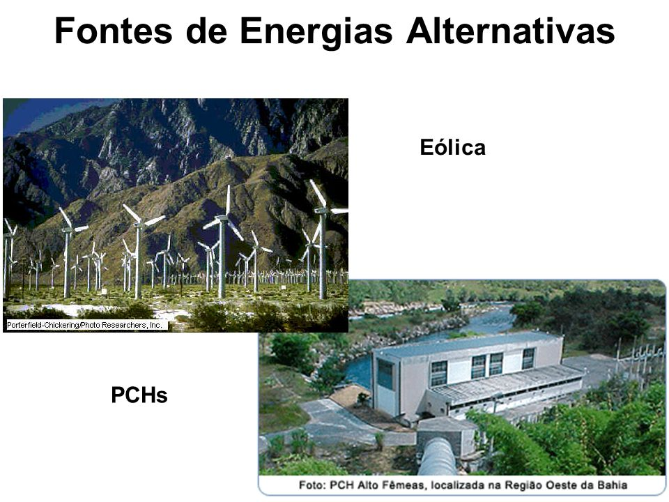 Fontes de Energias Alternativas