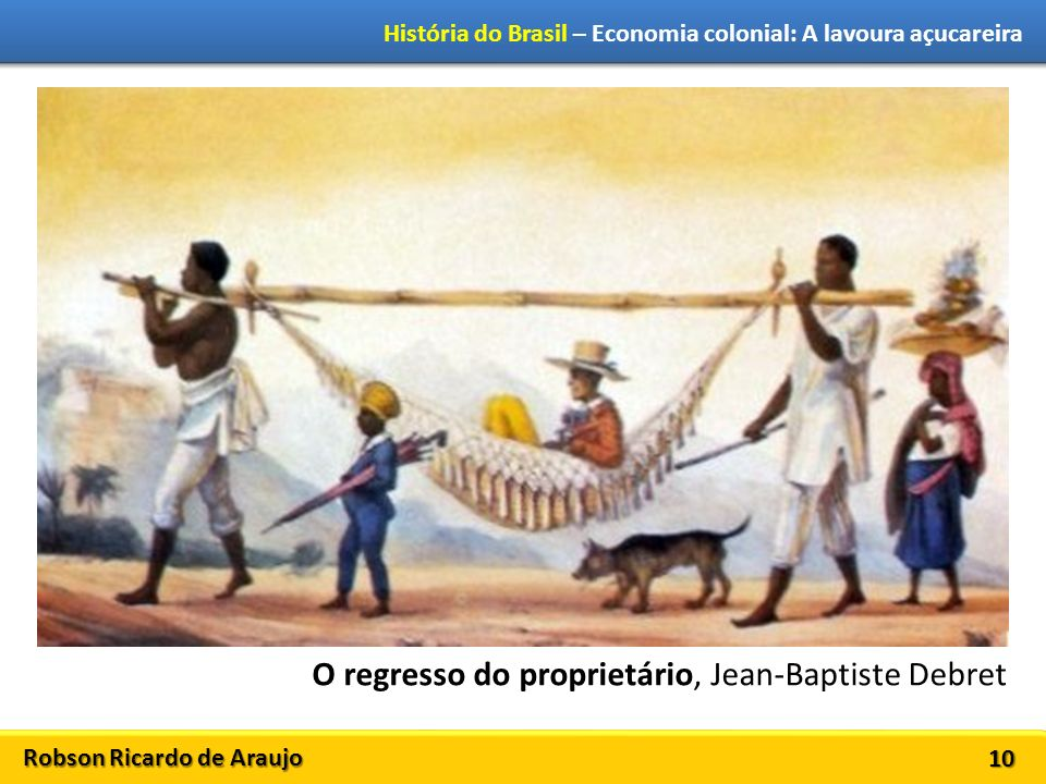 O regresso do proprietário, Jean-Baptiste Debret