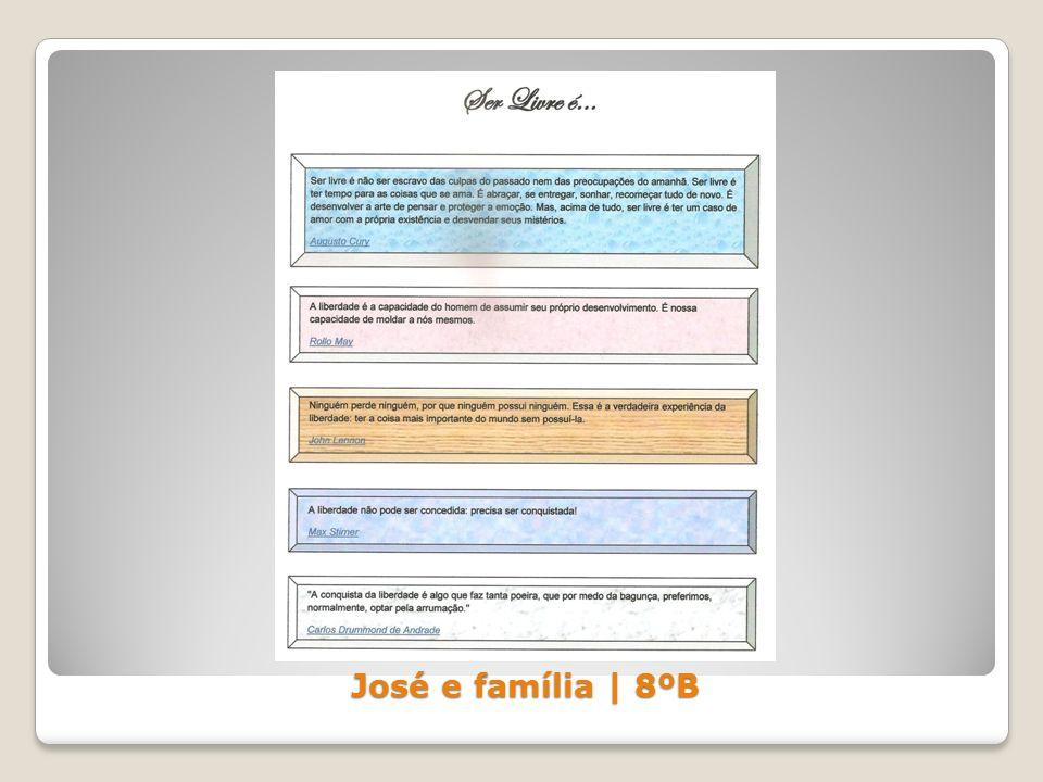 José e família | 8ºB