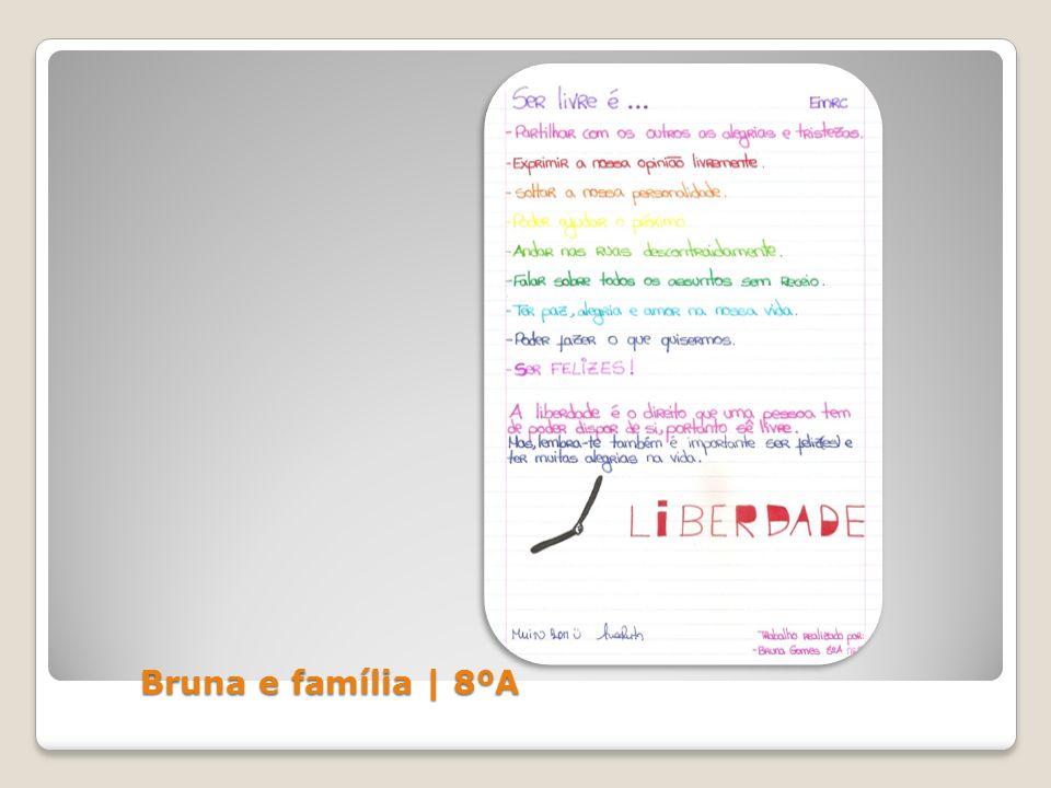Bruna e família | 8ºA