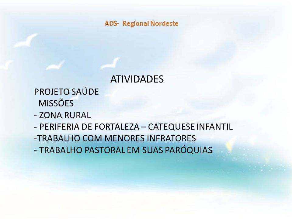 - PERIFERIA DE FORTALEZA – CATEQUESE INFANTIL