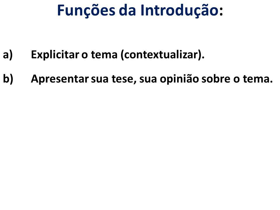 Funções da Introdução: