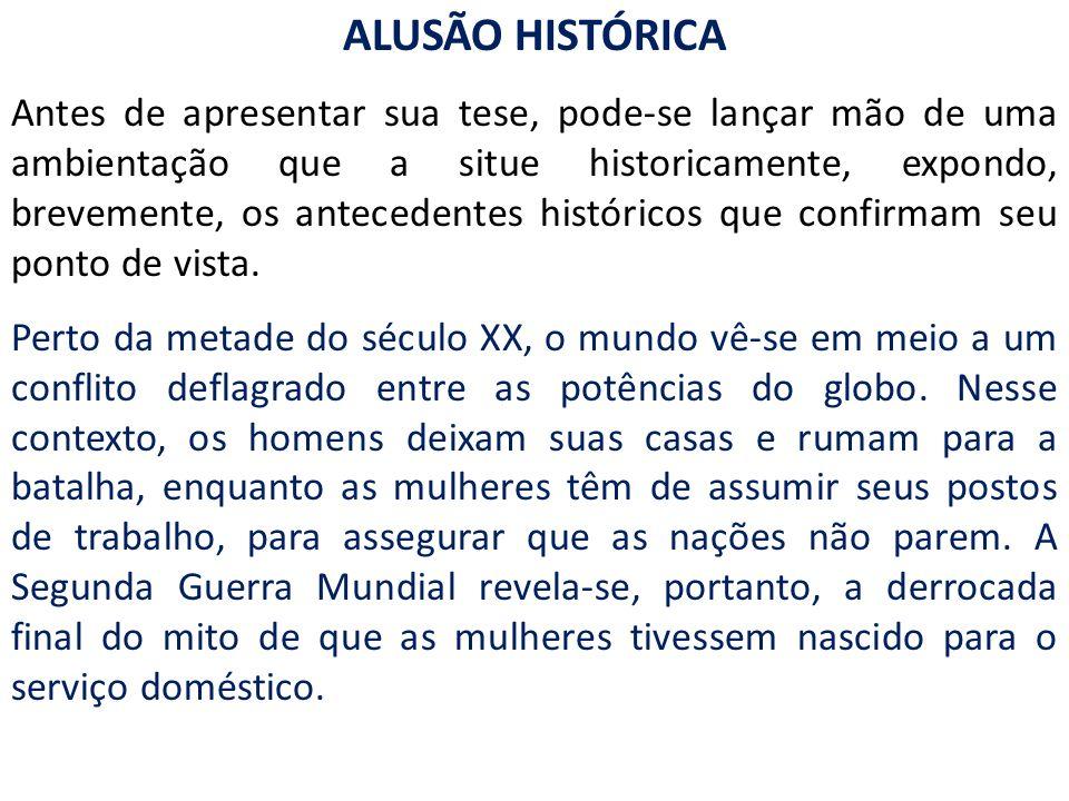 ALUSÃO HISTÓRICA