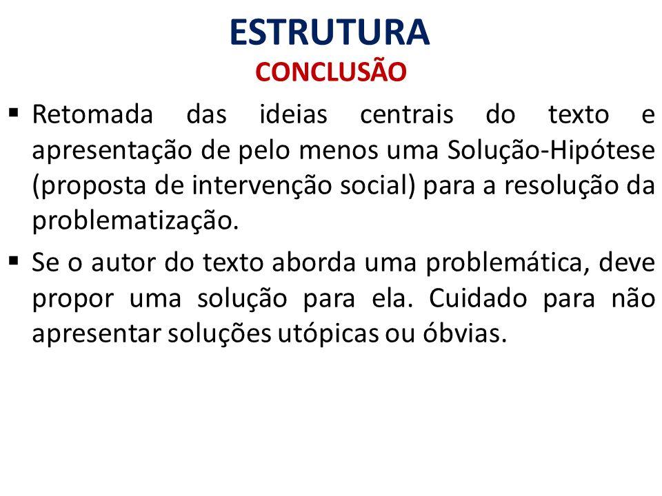 ESTRUTURA CONCLUSÃO.