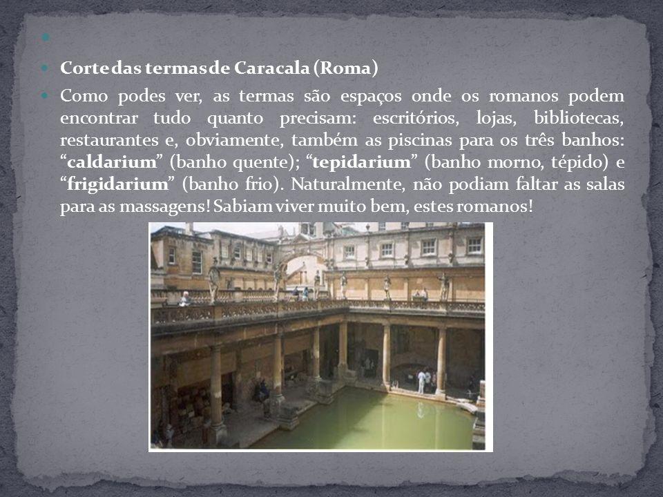 Corte das termas de Caracala (Roma)