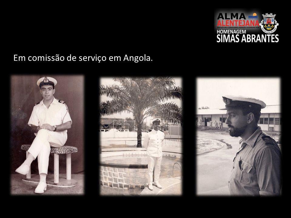 Em comissão de serviço em Angola.